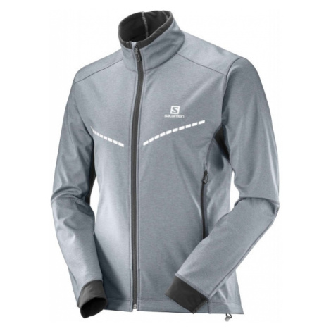 Salomon EQUIPE TR JKT M šedá - Pánska bunda na bežky