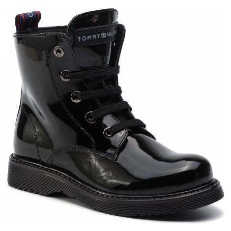 Čižmy TOMMY HILFIGER - Lace-Up Bootie T4A5-30445-0765 M Black 999