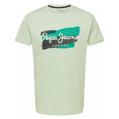 Pepe Jeans Tričko 'AITOR'  pastelovo zelená / nefritová / biela / grafitová