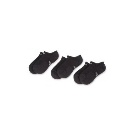 NIKE Súprava 3 párov kotníkových ponožiek unisex SX6843 010 Čierna