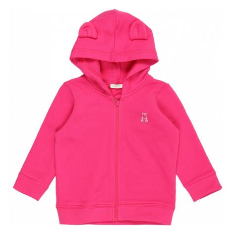 UNITED COLORS OF BENETTON Tepláková bunda  ružová / svetlosivá