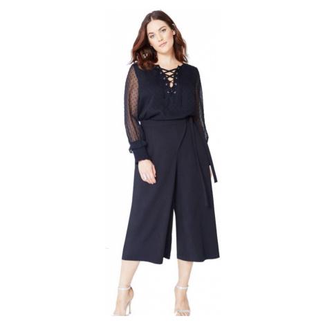 Čierna nohavicová midi sukňa Little Mistress