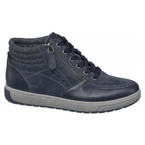 Medicus - Modrá kožená komfortná šnurovacia obuv Medicus