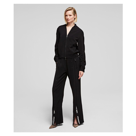 Nohavice Karl Lagerfeld Wide Leg Snap Pants W/ Logo