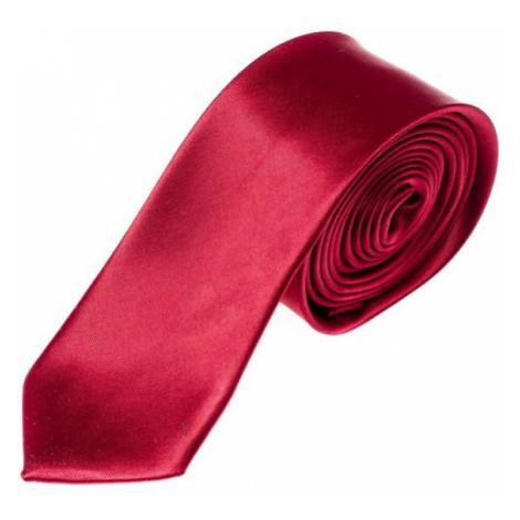 Vínová pánská elegantní kravata Bolf K001