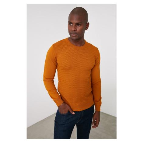 Trendyol Yellow Men's Bike Collar Knitwear Sweater