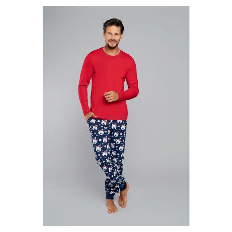 Pánske pyžamo Italian Fashion Balu Červeno-modrá
