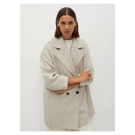 Cream wool coat Mango Willy