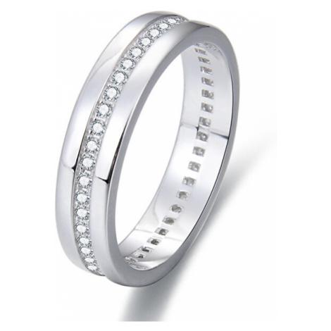 Beneto Strieborný prsteň so zirkónmi AGG330 mm