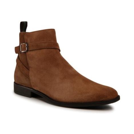 Členkové topánky Gino Rossi MI08-C796-798-02 Prírodná koža(useň) - Zamš
