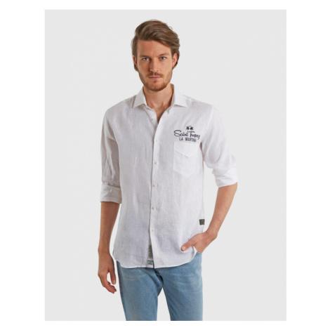Košeľa La Martina Man L/S Shirt Light Linen