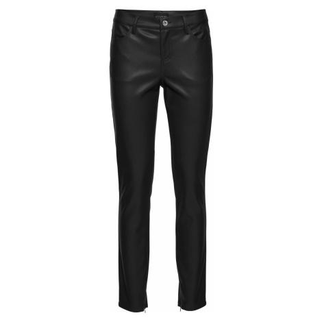 Koženkové nohavice po členky bonprix