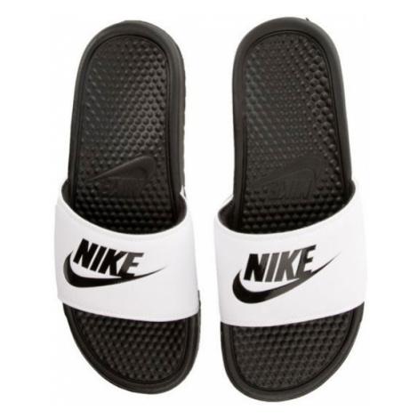 Pánské šlapky Nike Benassi Just Do It White Black 343880-100 - Veľkosť EU:46-Veľkosť US:12-Veľko