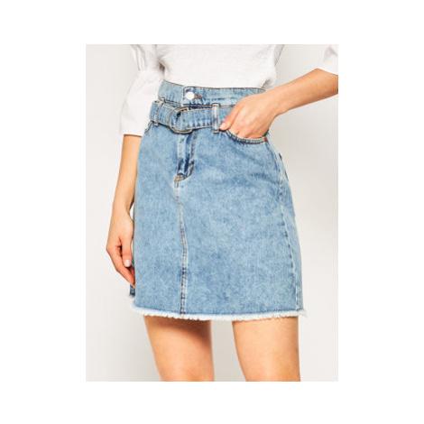 Guess Džínsová sukňa Peper Bag Mini W01D93 D3Y03 Modrá Regular Fit