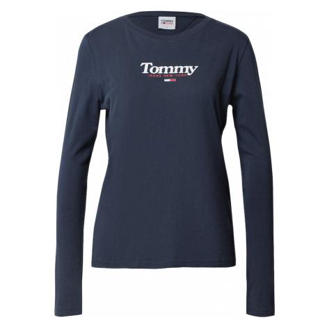 Tommy Jeans Tričko 'ESSENTIAL'  námornícka modrá / biela / červená
