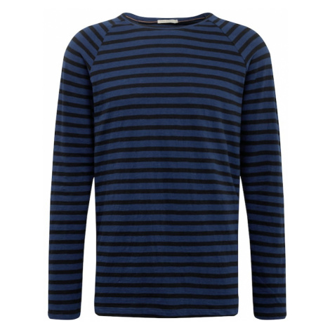 Nudie Jeans Co Tričko 'Otto Breton'  čierna / modrá