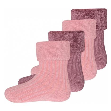 EWERS Ponožky  ružová / tmavoružová