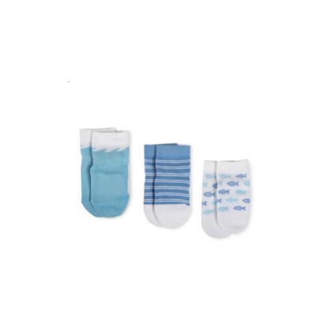 Tommy Hilfiger Súprava 3 párov detských členkových ponožiek 320508001 Modrá