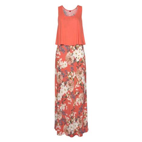 s.Oliver Plážové šaty  koralová / biela / ružová