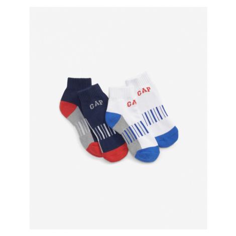 GAP Ponožky 2 páry detské Modrá Biela