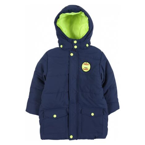 BLUE SEVEN Zimná bunda  námornícka modrá / neónovo zelená