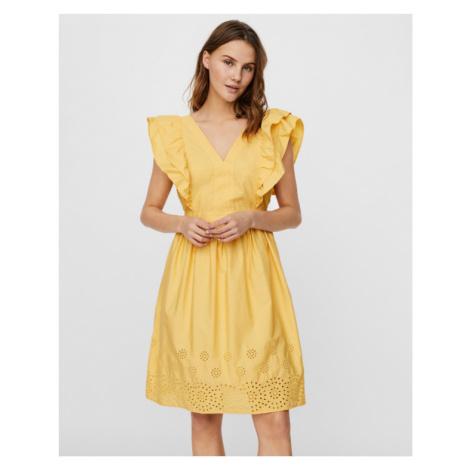 Vero Moda Lisa Šaty Žltá