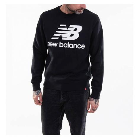 New Balance Essentials Stacked Logo Crew Bk MT03577BK