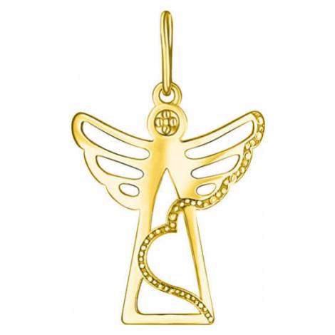 Brilio Zlatý prívesok Anjelik PA6161