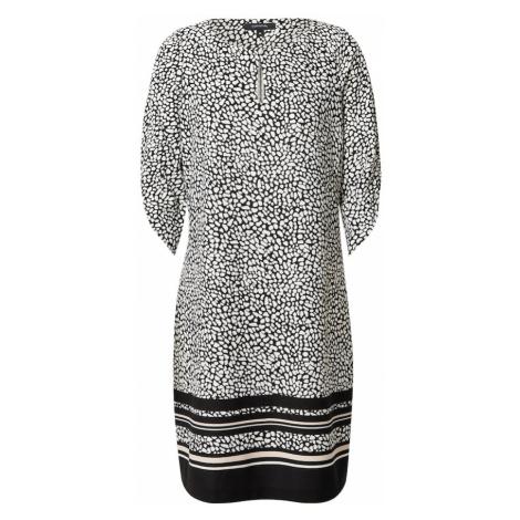COMMA Šaty  čierna / biela / béžová