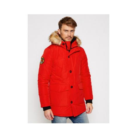 Superdry Zimná bunda Everest M5010204A Červená Regular Fit