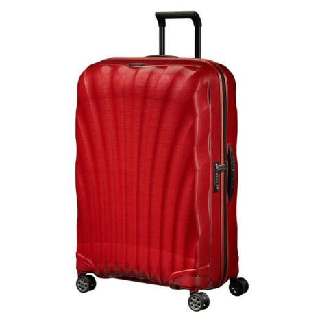 Samsonite Skořepinový cestovní kufr C-lite Spinner 94 l - červená