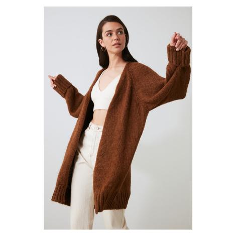 Trendyol Brown Knitwear Cardigan