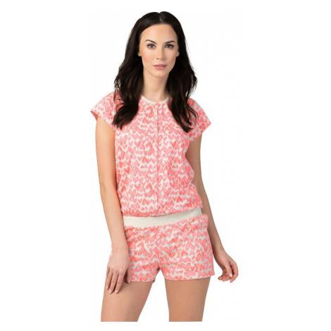 Ružový bavlnený overal na spanie Leyla s gombíkmi Rossli