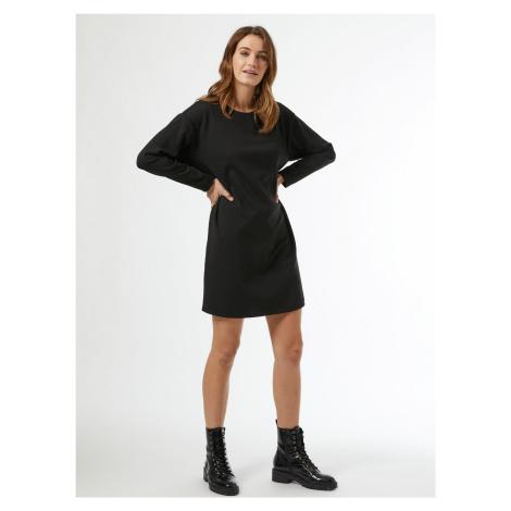 Čierne mikinové šaty Dorothy Perkins