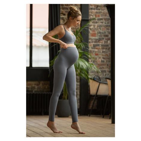 Sivé tehotenské nohavice