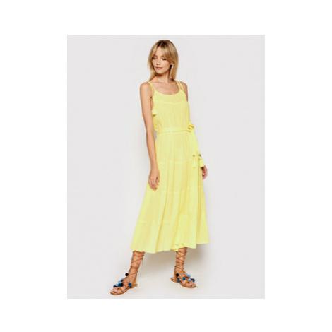 Melissa Odabash Letné šaty Fru SS Žltá Regular Fit