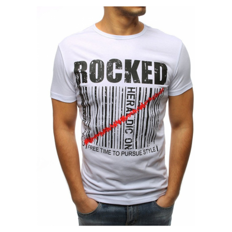 White RX3154 men's T-shirt with print DStreet