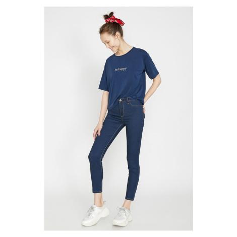 Koton Women's Blue Trousers