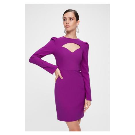 Trendyol Purple Collar Detailed Dress Purple