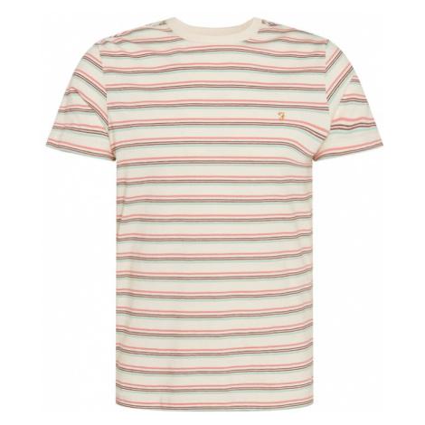 FARAH Tričko 'CANYON'  krémová / svetlomodrá / svetločervená