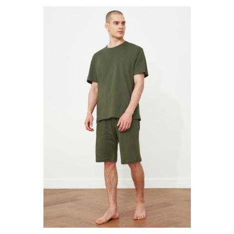 Trendyol Khaki Knitted Pyjama Set