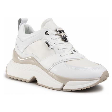 Sneakersy KARL LAGERFELD - KL61633  White Lthr/Textile