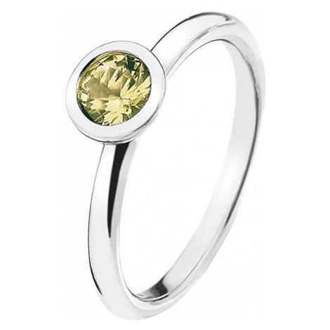 Hot Diamonds Strieborný prsteň Emozioni scintilla Peridot Nature ER019 mm