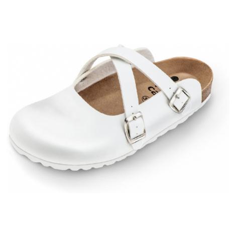 Biela zdravotná obuv 101002