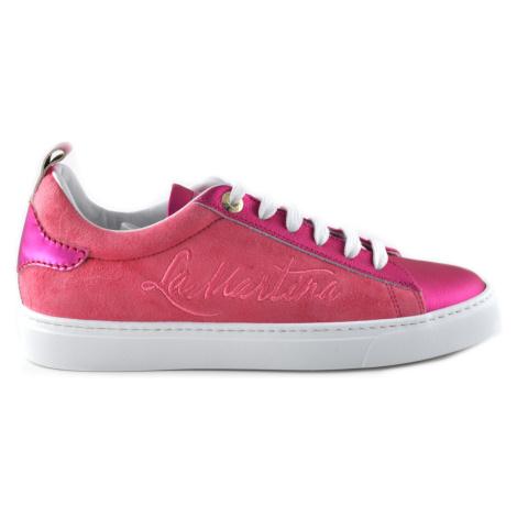 Tenisky La Martina Woman Shoes Satin Suede
