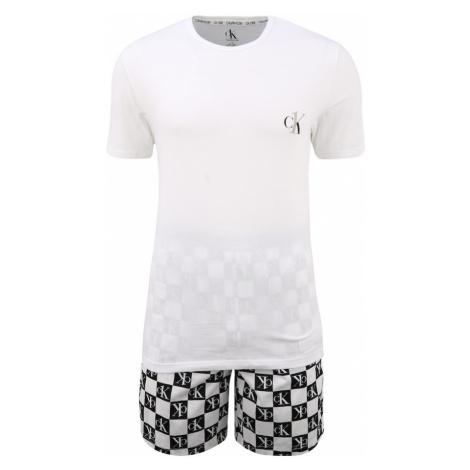 Calvin Klein Underwear Krátke pyžamo  biela / čierna