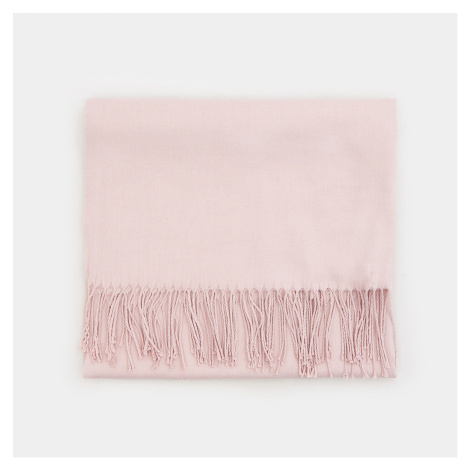 Mohito - Hladký šál s prímesou viskózy - Ružová