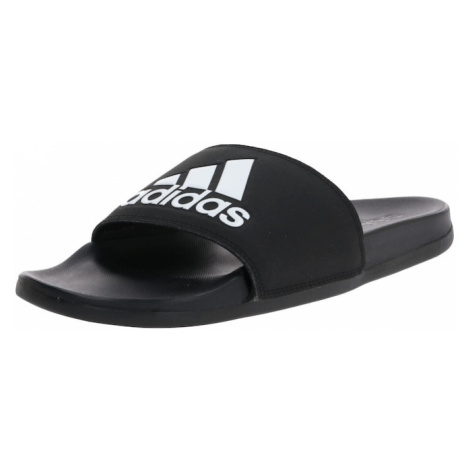 ADIDAS PERFORMANCE Plážové / kúpacie topánky 'Cloudfoam'  čierna / biela