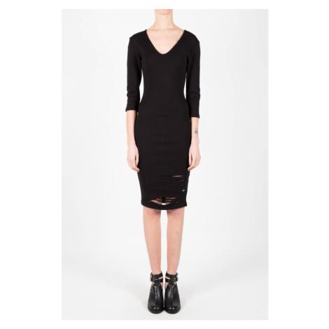 Dámske čierne šaty Sixth June