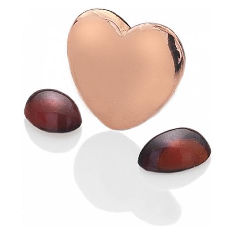 Hot Diamonds Element srdce s granátmi Anais Január EX132